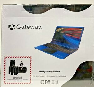 NEW Gateway 14.1 FHD Notebook Intel Dual Core 64GB SSD 4GB RAM 2.8GHz Win10 Blue