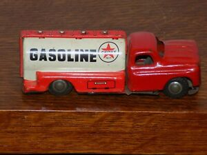 Vintage Caltex Gasoline Tin Friction Tanker Truck