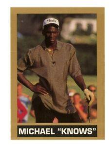 MICHAEL JORDAN Chicago Bulls KNOWS GOLF Golfing Gold Chain Oddball Card