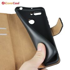 Genuine Leather Wallet Flip Case Cover For Xiaomi Redmi 6