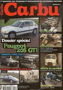 CARBU 12 FORD ESCORT XR3 & XR3i PEUGEOT 205 GTI LOTUS ELAN RENAULT ESTAFETTE