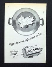 C730 - Advertising Pubblicità- 1959 - MARGARINA FOGLIA D'ORO STAR