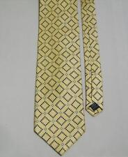 JOSEPH & LYMAN All Silk Geometric Mens Necktie Yellow