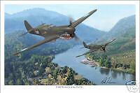 "P-40 ""Warhawk"" 23rd FG Flying Tigers Aviation Art Print"