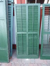 """Huge victorian Double wide louver Shutters 57.5 x 24"""""""