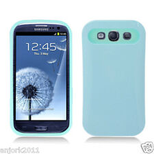 Samsung Galaxy S3 i9300 Hybrid Hard Case Skin Pastel Cover Light Blue