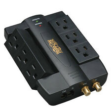 NEW Side Socket XTREME HOME THEATER 6 Outlet Swivel Surge Protector Space Saver