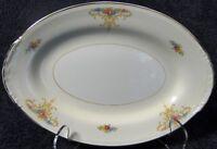 "Homer Laughlin Nautilus Rochelle Gravy Underplate Relish Tray 9"" Platter RARE"