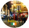 Dublin, IRLANDA - BANDERA/MONUMENTOS - Redondo RECUERDO Imán de NEVERA -REGALOS-