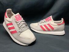 Adidas Forest Grove J Casual Sneakers Grey Pink Girls Size 6.5 DISPLAY MODEL!