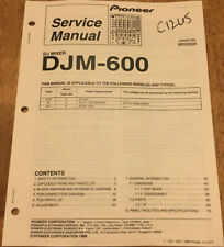 PIONEER DJM-600 DJ MIXER ORIGINAL SERVICE REPAIR MANUAL