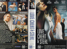 LOVE CHEAT and STEAL - John Lithgow - VHS - NEW - Never played!! - Very rare!!