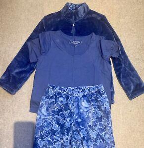 Carole Hochman Pyjamas Size Small Fleece Winter Sleepwear Set