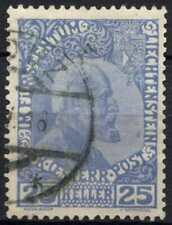 More details for liechtenstein 1912-15, 25h cobalt blue used #d91176