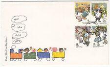 LETTRE FDC ROYAUME UNI SERIE TIMBRE 896 A 899 ANNEE DE L ENFANTS 1979