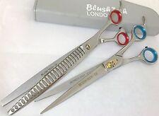 "8.5"" Gift pair pets grooming scissors  & dog cat thinning scissor chunker shear"