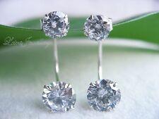 Orecchini di lusso con gemme farfalline viola in argento sterling
