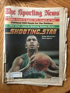 The Sporting News Mark Aguirre Dallas Mavericks JANUARY 23, 1984 POOR