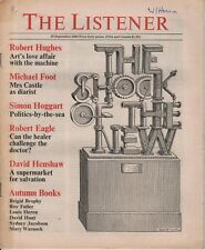 THE LISTENER (25 September 1980) MICHAEL FOOT ON BARBARA CASTLE - ROBERT HUGHES