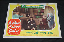 1955 A Man Called Peter Lobby Card 55-126 #2 Richard Todd Jean Peters (C-5)