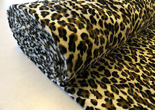 LEOPARD VELBOA FAUX FUR animal print short pile luxury fun punk rockabilly 1m