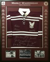 Blazed In Glory - Manly Warringah 1973 Premiers - NRL Signed & Framed Jersey