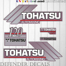 TOHATSU 120 HP automixing hors-bord Moteur Decal Sticker Set Kit reproduction