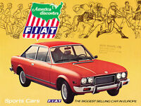1970 Fiat 124 Sport Spider 850 128 SL 12-page Car Sales Brochure Catalog