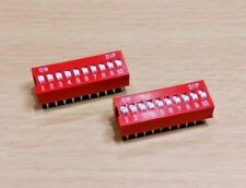 2 PACK - 10 WAY PCB DIP Switch - 2.54mm 10P (24V 100mA)