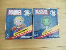 Marvel Collector corps Funko Pop Mystery Mini She-Hulk et le Capitaine Marvel