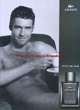 "Lacoste ""Style On Skin"" 2004 Magazine Advert #85"