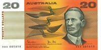 Australia Repeater Serial $20 VHA005858 Johnston&Stone Paper Banknote Issue r408