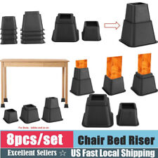 Bed Risers Furniture Desk Table Couch Sofa Lift Riser Tool Set Of 8 Heavy Duty