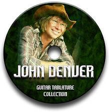 JOHN DENVER FOLK COUNTRY GUITAR TAB TABLATURE SONG BOOK SOFTWARE CD
