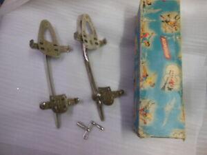 old KONDOR - Velox Nr.55 adj ICE SKATES w orig Box & Key - Made in Germany 1920s