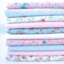10 x 1 METRO pacchetto - Vintage floreale rosa e blu - tessuto Poli Cotone