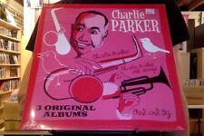 Charlie Parker 3 Original Albums 2xLP sealed vinyl s/t, With Strings, Bird & Diz