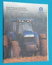 1995 NEW HOLLAND FORD 70 Series GENESIS Catalog Sales Brochure 145 to 210 HP