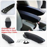 Left Side Armrest Centre Console Arm Rest - Black