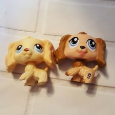 Littlest Pet Shop Lps Lot Cocker Spaniel #91 #1318 Yellow Blonde Brown Dog Puppy