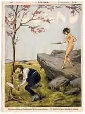 """Titelblatt aus Münchner """"Jugend"""" 1896 Jugendstil-Erotik-Bogenschießen-L Zumbusch"""