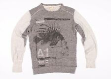 Diesel Mens Skull Print Crew Neck Pullover Sweater Size S Small