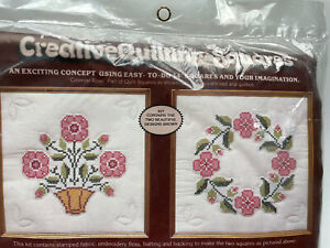 PARAGON Creative Quilting Squares COLONIAL ROSE Pink Vintage 1980's NEW