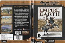 Empire EARTH: GIOCO per PC su CD + manuale con seriale & Free/Veloce Post