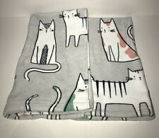Artisan NY Cat Hand Towel Set 2 Piece Kitty Gray Meow Bath