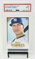 2018 Topps Gallery NY Yankees RC Star GLEYBER TORRES Rookie Baseball Card PSA 9