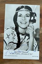 "KARIN DOR ""Winnetou"" Autogrammkarte 9 x 14 cm handsigniert SIGNED"