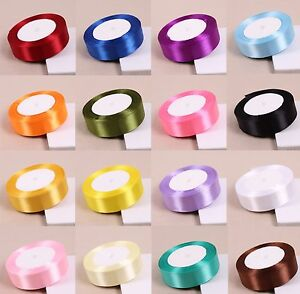 Quality Reels Satin Ribbon Roll Lengths Width 10,15,25 & 38mm Gift Box Christmas