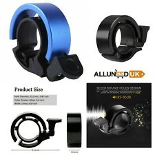 Bicycle Bell Aluminum Alloy Bike Alarm Handlebar Cycling Ring Loud Blue & Black