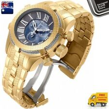 Invicta Mens Reserve Bolt Watch Swiss Made 18K Gold Plated Mop Chrono 17433